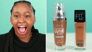 Women Try Drugstore Foundation
