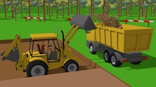 #Excavator and Truck, Dump Truck and Concrete Mixer Truck | Street Vehicles | Maszyny Budowlane