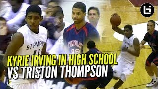 Kyrie Irving EPIC High School Game Vs Triston Thompson & Corey Joseph! Brings The SAUCE!!