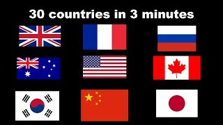 30 countries described in 1 sentence