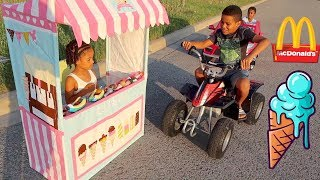 FamousTubeKIDS Best Drive Thru Moments | McDonald