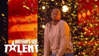 Sarah Ikumu gets the golden buzzer from Simon on BGT 2017!