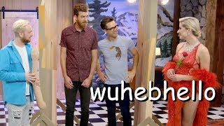 rhett and link trying to speak for 6 more minutes straight