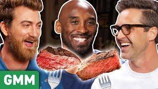 Can Kobe Bryant Guess Kobe Beef Vs. Cheap Beef? (GAME)