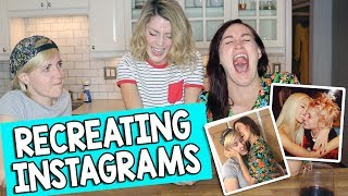 RECREATING INSTAGRAMS (ft HANNAH & MAMRIE) // Grace Helbig