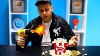 Experiment - Kann man mit Heißluft Popcorn machen?