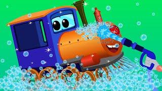 train car wash | car cartoons for children | kids video