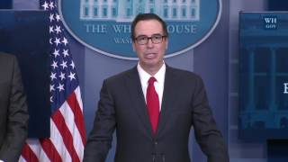 WATCH: Steven Mnuchin on Donald Trump NEW TAX REFORM PLAN Press Conference Briefing, Sean Spicer