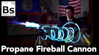 Propane Fireball Cannon - How to Shoot Blue Fireballs!