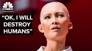 Hot Robot At SXSW Says She Wants To Destroy Humans | The Pulse | CNBC