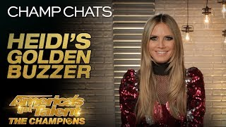 Heidi Klum Chats About Giving Deadly Games The Golden Buzzer - America
