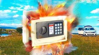 Was passiert wenn ein Böller im Tresor explodiert!