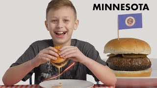 Kids Try Burgers From 10 States | Bon Appétit