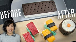 Hack an ICE CREAM SANDWICH into SUSHI