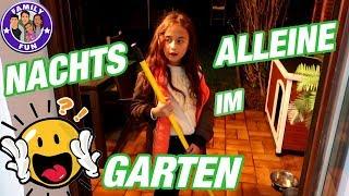 MILEY NACHTS ALLEINE IM GARTEN | Vlog #137 Our life FAMILY FUN