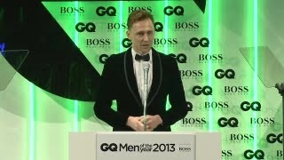 Tom Hiddleston presents Emma Watson with GQ
