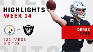Derek Carr Highlights vs. Steelers