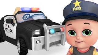 police chase   Car Loader Trucks for kids - Cars toys videos, fire truck - toy unboxing  jugnu kids