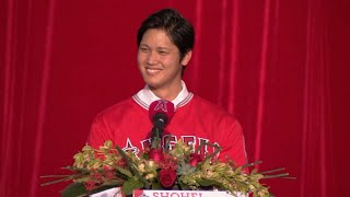 Angels formally introduce Shohei Ohtani