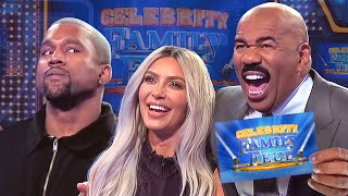 Kim & Kanye and the Kardashians Clash! All the CRAZIEST MOMENTS!!! | Celebrity Family Feud