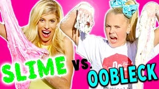 Slime vs  Oobleck Challenge! (Extremely Satisfying)