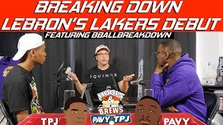 Breaking Down Lakers First Game feat BBALLBREAKDOWN | Hoops N Brews
