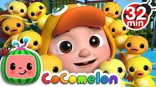 Ten Little Duckies (A Number Song) | +More Nursery Rhymes & Kids Songs - ABCkidTV