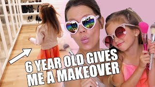 6 YEAR OLD GIVES ME A MAKEOVER | Clothes & Makeup