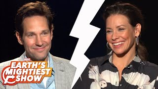 Paul Rudd, Evangeline Lilly talk big action and more! | Earth's Mightiest Show