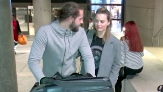 Margot Robbie Looking So In Love With Boyfriend Tom Ackerley At LAX