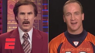 Ron Burgundy Interviews Peyton Manning   SportsCenter   ESPN Archives
