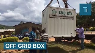 This box can deliver electricity and drinking water anywhere