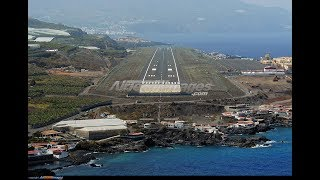 Airbus A320 - Approach and Landing in La Palma - tricky NDB/DME approach (ENG Sub)
