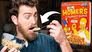 Discontinued Homer Simpson Cereal Taste Test
