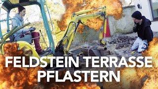 Feldstein Terrasse pflastern / Kopfsteinpflaster - Heimwerkerking Fynn Kliemann