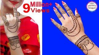 Beautiful Henna Mehndi Jewellery : How to apply new latest henna mehndi designs for hands jewelry