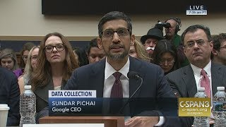 LIVE: Google CEO Sundar Pichai testifies on Data Collection (C-SPAN)