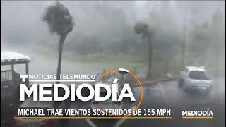 Imágenes del huracán Michael tocando tierra en el noroeste de la Florida   Noticiero   Telemundo