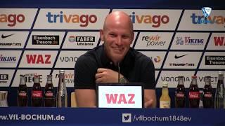 Die Pressekonferenz vor dem DFB-Pokal-Spiel SC Paderborn 07 - VfL Bochum 1848