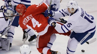 Maple Leafs survive scary last minutes to edge Red Wings