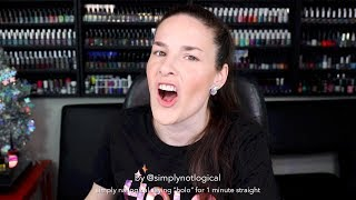 "simply nailogical saying ""holo"" for 1 minute straight"