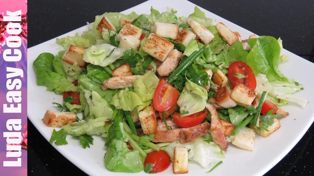 Салаты с курицей рецепты простые и вкусные порционные