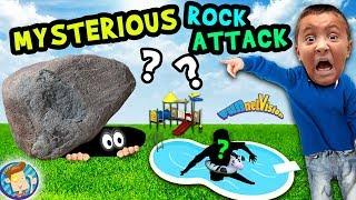 MYSTERIOUS ROCK in BACKYARD!! FUNnel Family Vlog