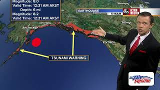 Magnitude 8.2 earthquake strikes Alaska, tsunami watch issued for US West Coast