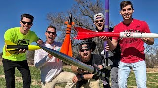 Model Rocket Battle   Dude Perfect