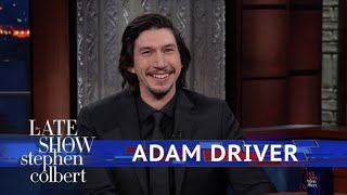 Adam Driver And Stephen Act Out A