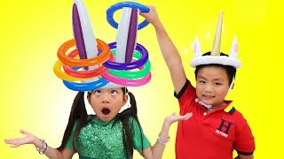 Emma Pretend Play Learn Colors w/ Fun Colored Inflatable Kids Toys