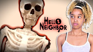 Hello Neighbor SKELETON ATTACKS Bad Baby Shiloh And Shasha - Scary Haunted House - Onyx Kids