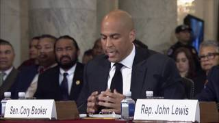 Sen. Cory Booker Testifies Against Sen. Jeff Sessions