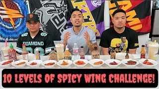 INSANE 10 LEVELS OF HOT WINGS CHALLENGE! Ft. JC & Mark   @HOT ONES
